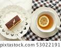금박 카스테라와 레몬 티 53022191