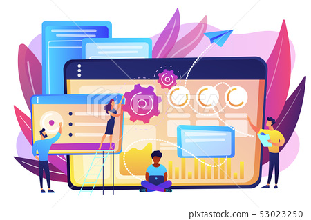 SEO analytics team concept vector illustration. 53023250