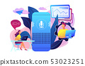 Smart speaker office controller concept vector illustration. 53023251