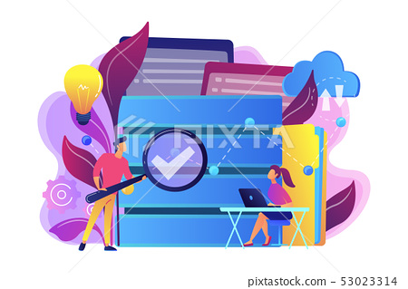 Big data analytics concept vector illustration. 53023314