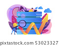 Big data tools concept vector illustration. 53023327