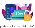 Security access card concept vector illustration. 53023365