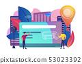 Public transport travel pass card concept vector illustration. 53023392