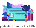 Smartcards for schools concept vector illustration. 53023399
