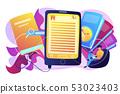Ebook concept vector illustration. 53023403