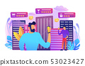 Intelligent services in smart city concept vector illustration. 53023427