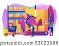 Warehouse logistics concept vector illustration. 53023986