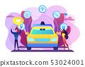 Autonomous driving concept vector illustration. 53024001