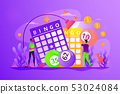Lottery game concept vector illustration. 53024084