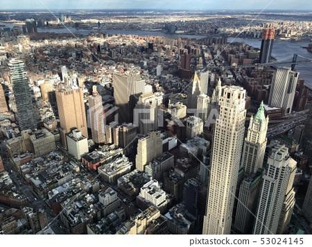 美國紐約曼哈頓都市風景摩天大樓 53024145