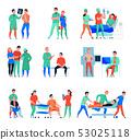 Hospital Flat Icons Set  53025118