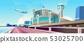 airport building vector 53025700