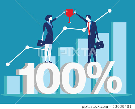 Successful business team presenting and financial 53039481