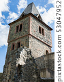 Tower of Castle Frankenstein, Odenwald, Germany 53047952