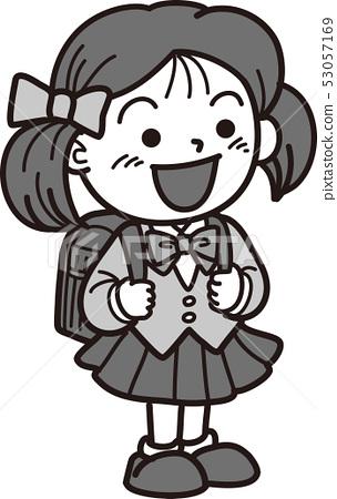 초등학교 입학식 여자 53057169