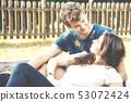 Kiss, couple, young 53072424