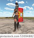 Roman centurion in a landscape 53094882