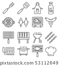 Barbecue BBQ Vector Line Icons. Contains such 53112649