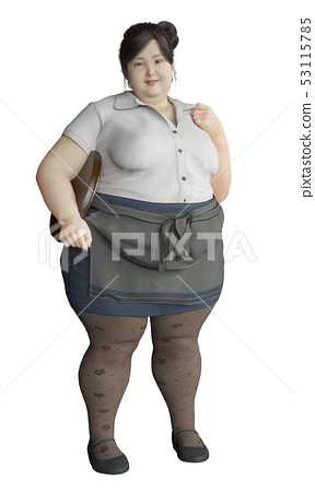 Fat waitress 53115785