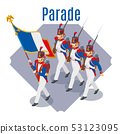 Napoleon's grenadiers on isolated background 53123095