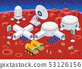 Mars colonization  isometric composition 53126156