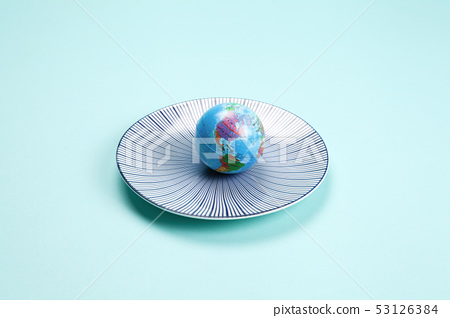 earth in a plate 53126384