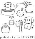 vector set of dog shower 53127393