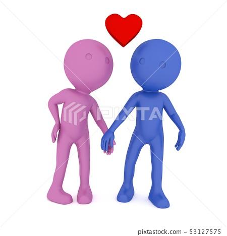Love People. 3D rendering 53127575