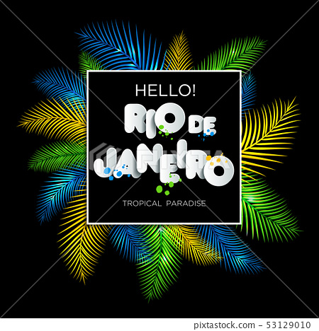 Illustration of Rio de Janeiro from Brazil 53129010