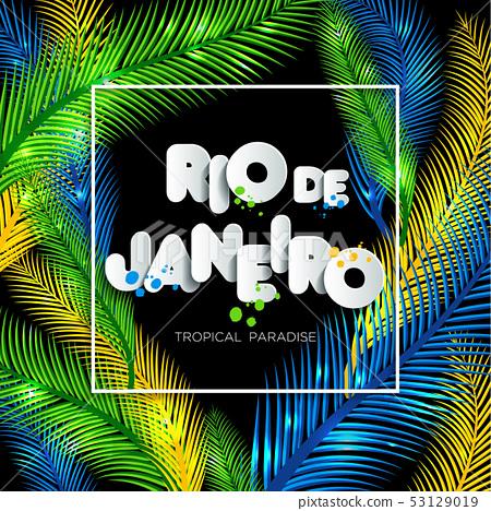 Illustration of Rio de Janeiro from Brazil 53129019