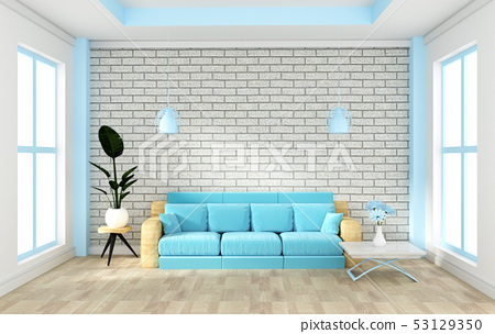 Loft interior mock up with sofa and decoration 53129350