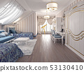 Luxury children room in classic style, with two 53130410