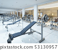Modern interior fitness gym in the Spa complex. 53130957