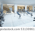 Modern interior fitness gym in the Spa complex. 53130961