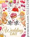 Engagement party invitation, wedding day ceremony 53131259