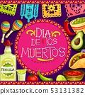 Mexican Dia de los Muertos holiday attributes 53131382