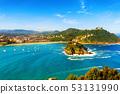 San Sebastian city, view of La Concha bay, Spain 53131990
