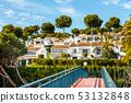 white buildings on the coast of costa del sol in 53132848