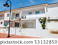 white buildings on the coast of costa del sol in 53132850