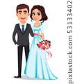 Wedding couple. Marriage concept. 53133402
