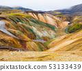 Landmannalaugar colorful rainbow mountains 53133439