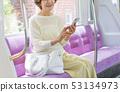 หญิงอาวุโสรถไฟร่วมมือถ่ายภาพท่องเที่ยว: Keio Electric Railway Co. , Ltd. 53134973