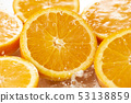 新鮮的桔子的圖像 53138859