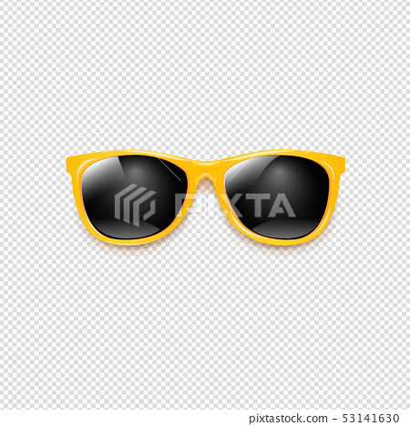 Yellow Sunglasses With Transparent Background 53141630