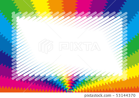 Background wallpaper, rainbow colors, radiation, jagged, title space, name plate, price tag, illustration, free material, 53144370