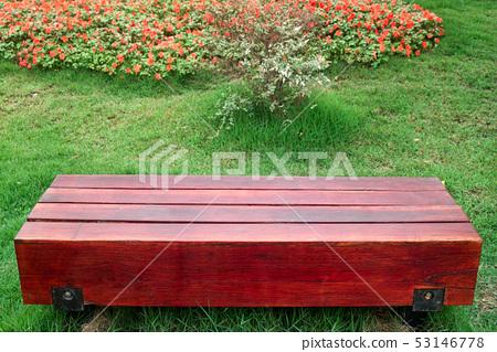 Bench in garden 53146778