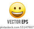 vector gradient yellow happy smiley face icon 53147667
