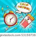 Good morning cartoon vector banner template 53150736