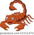 Cartoon scorpion on white background 53151473