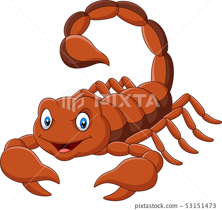 Cartoon scorpion on white background 53151473